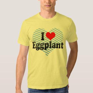 I Love Eggplant Tee Shirt