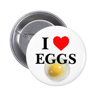 I Love Eggs Pinback Buttons