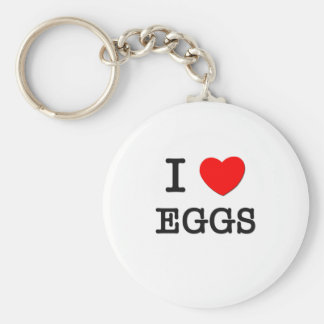 I love Eggs Keychain