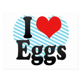 I Love Eggs Postcard
