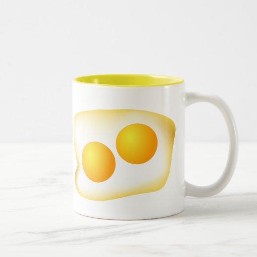 I Love Eggs Two-Tone Coffee Mug