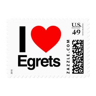 i love egrets postage stamps