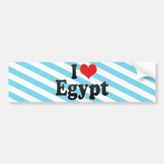 I Love Egypt Bumper Sticker