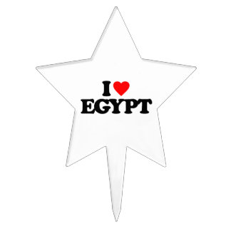 I LOVE EGYPT CAKE PICK