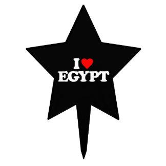 I LOVE EGYPT CAKE TOPPER
