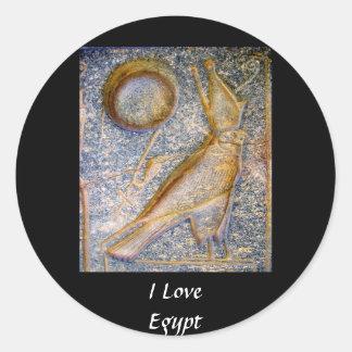 I Love Egypt - Horus Classic Round Sticker
