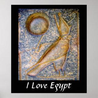 I Love Egypt - Horus Poster