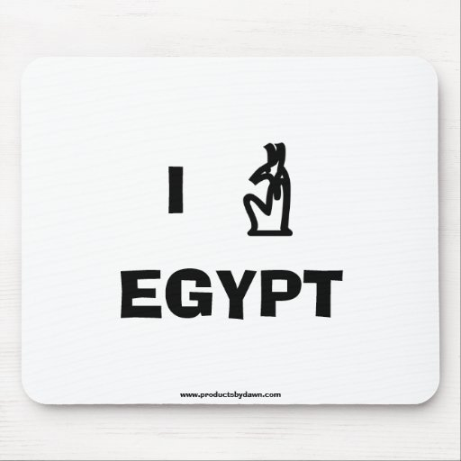 I Love Egypt Mousepad