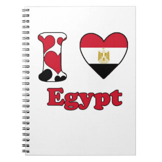 I love Egypt Spiral Note Book