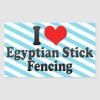 I love Egyptian Stick Fencing Stickers