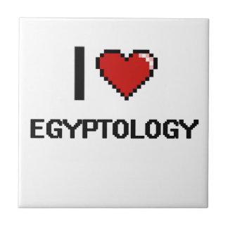 I Love Egyptology Digital Design Small Square Tile
