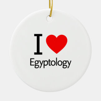 I Love Egyptology Christmas Ornament