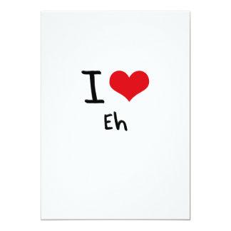 I love Eh 5x7 Paper Invitation Card