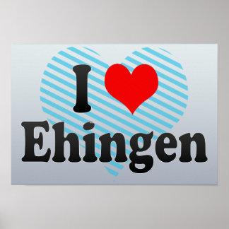 I Love Ehingen, Germany Poster