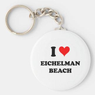 I Love Eichelman Beach Keychain