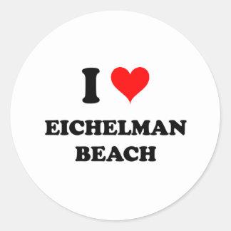 I Love Eichelman Beach Sticker