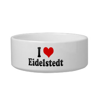 I Love Eidelstedt, Germany Cat Water Bowls