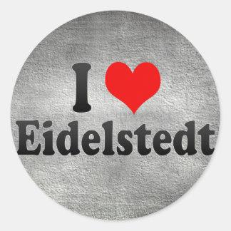 I Love Eidelstedt, Germany Round Sticker