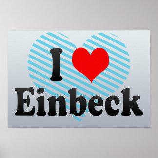 I Love Einbeck, Germany Print