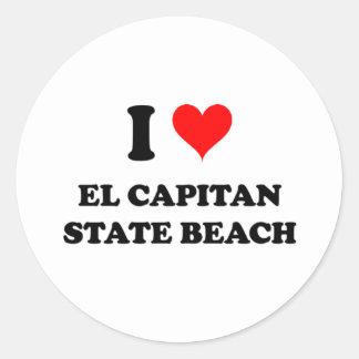 I Love El Capitan State Beach Classic Round Sticker