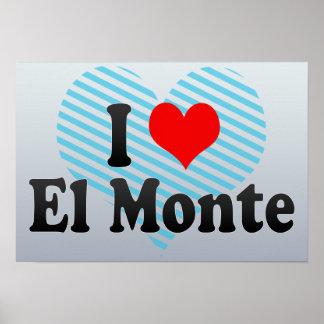 I Love El Monte, United States Poster