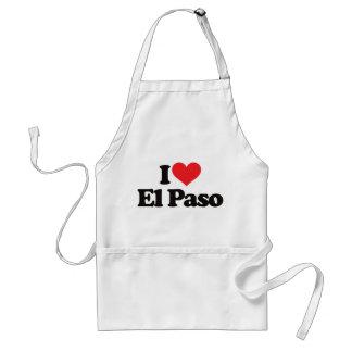 I Love El Paso Adult Apron
