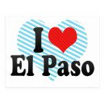 I Love El Paso Postcards