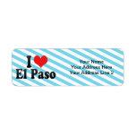 I Love El Paso Return Address Label