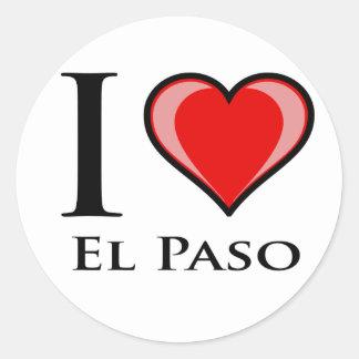I Love El Paso Stickers