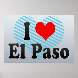 I Love El Paso, United States Print