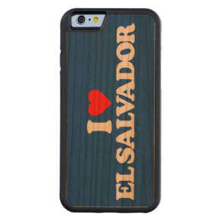 I LOVE EL SALVADOR CARVED CHERRY iPhone 6 BUMPER CASE