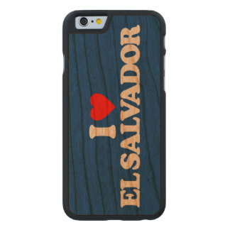 I LOVE EL SALVADOR CARVED CHERRY iPhone 6 CASE
