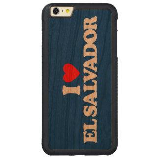 I LOVE EL SALVADOR CARVED CHERRY iPhone 6 PLUS BUMPER CASE