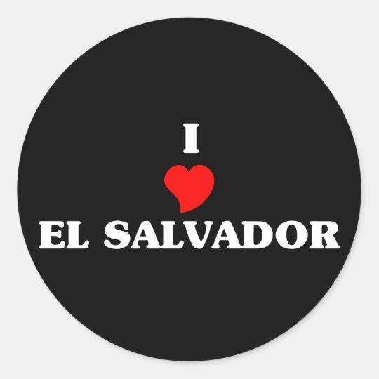 I Love El Salvador Classic Round Sticker