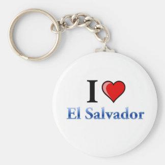 I Love El Salvador Keychain