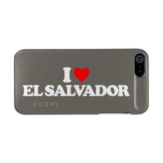 I LOVE EL SALVADOR METALLIC iPhone SE/5/5s CASE
