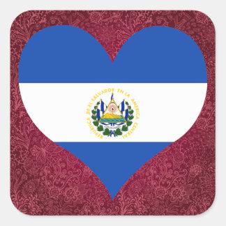 I Love El+Salvador Square Sticker