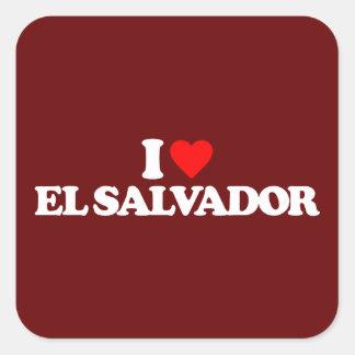 I LOVE EL SALVADOR SQUARE STICKER