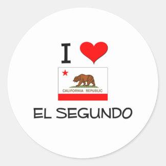 I Love EL SEGUNDO California Classic Round Sticker