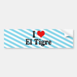 I Love El Tigre, Venezuela Bumper Sticker