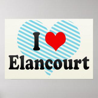 I Love Elancourt, France Posters