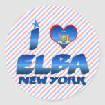 I love Elba, New York Classic Round Sticker