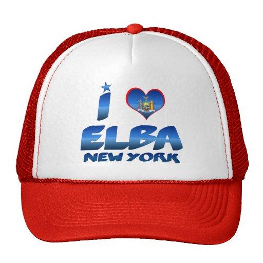 I love Elba, New York Trucker Hat