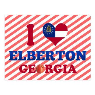 I Love Elberton, Georgia Postcard