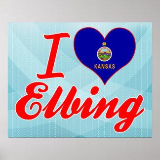 I Love Elbing, Kansas Posters