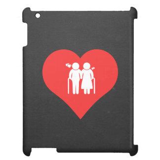 I Love elderly Modern iPad Cases