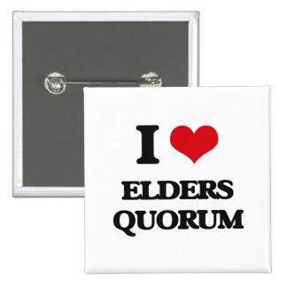 I love Elders Quorum Pinback Buttons
