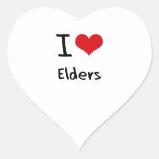 I love Elders Heart Sticker