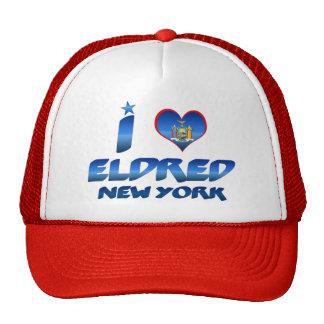 I love Eldred, New York Trucker Hats