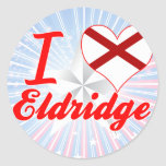 I Love Eldridge, Alabama Sticker